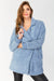 Blue Fleece Boyfriend Coat