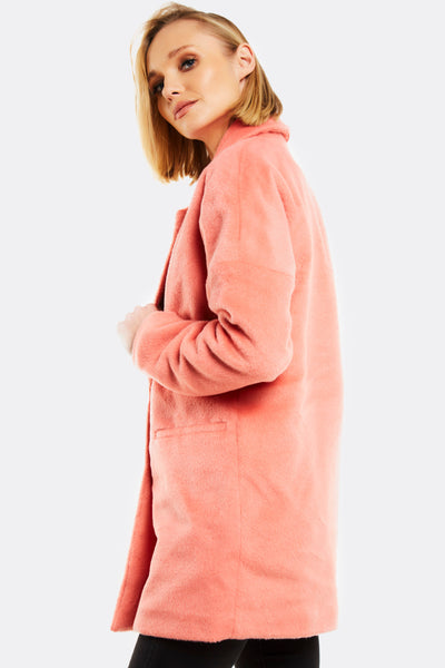 Peach Wool Blend Coat