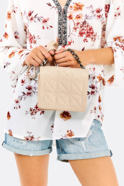 Pastel Pink Mini Faux Leather Bag