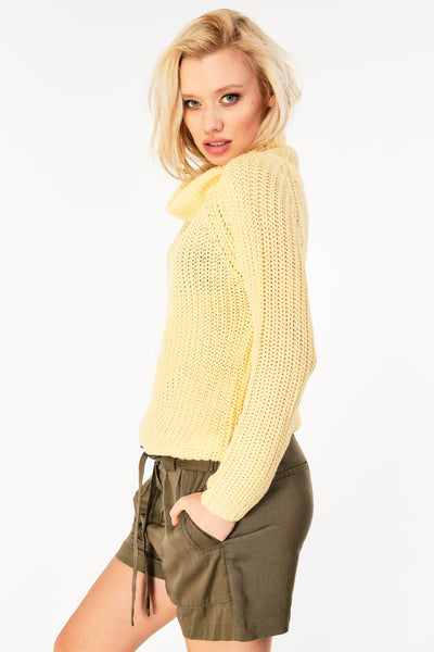 Cowl neck chunky knit Jumper