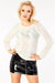 Chunky cabl knit long sleeve Jumper