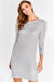 Textured knit Dress with deep V back and full length zip