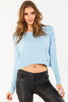 Cropped lightweight jumper with long sleeves