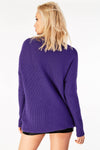 Textured knit long line Jumper