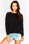 Wool blend fine knit Jumper with side zip detail