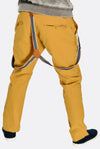 Dark Yellow Cotton Trousers With Suspenders
