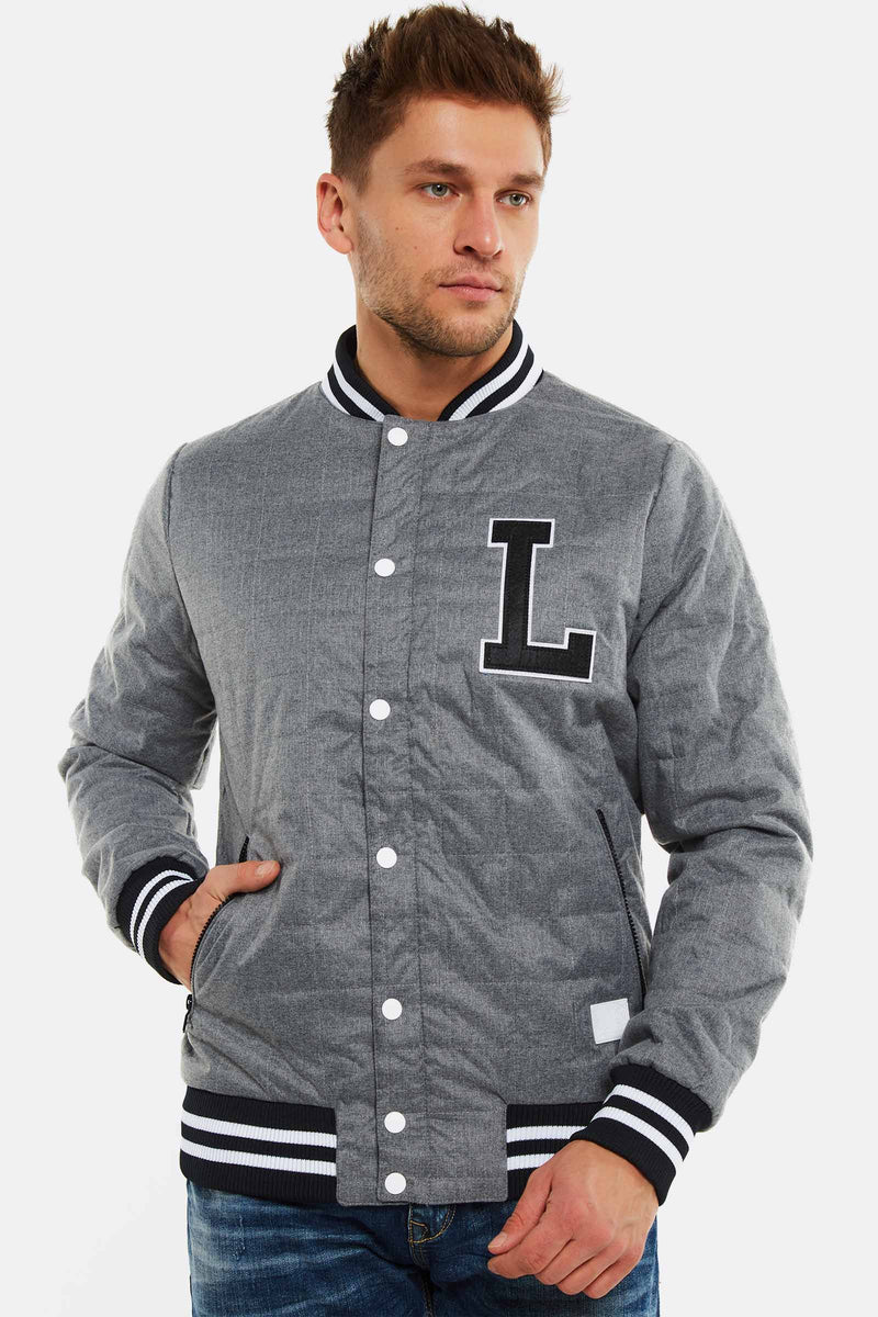 Grey Bomber Jacket