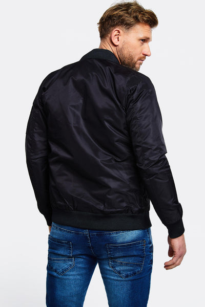 Black Contrast Pocket Jacket