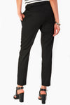 Black Ankle Grazer Tailored Trousers