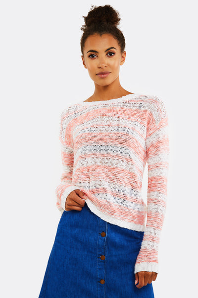 Peach Striped Jumper