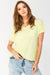 Yellow V Neck Cotton T-Shirt
