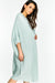Blue Short Sleeve Maxi Cardigan