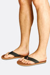 Black And Brown Flip Flops