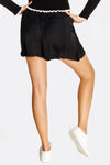 Black Basic Runner Shorts