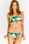Multicoloured Tropical Pattern Bikini Set