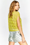 Yellow Stripe Short Sleeve T-Shirt