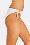 Cream Textured Bikini Bottom