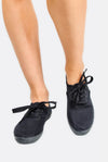 Black Laced Plimsolls