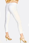 White Lace Up Side Trousers