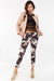 Floral print relaxed skinny fit crop Trousers with side pockets