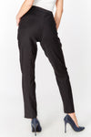 Flat fronted tailored Trousers with ankle slit