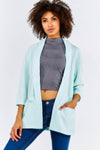 Blue Loose Fit Lightweight Jacket