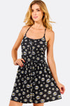 Black Floral Pattern Dress