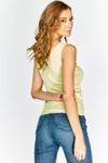 Yellow V Neck Vest Top