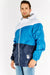 Blue Colour Block Coat