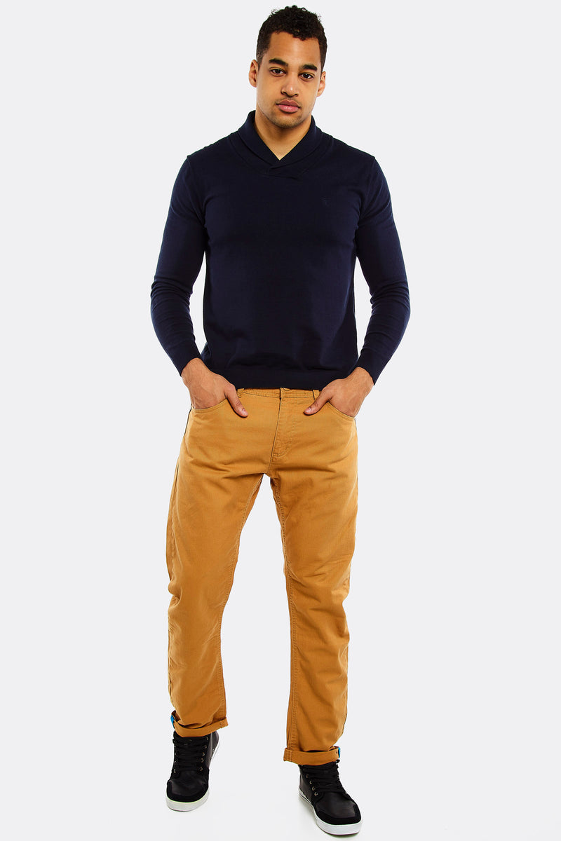 Amber straight-leg trousers