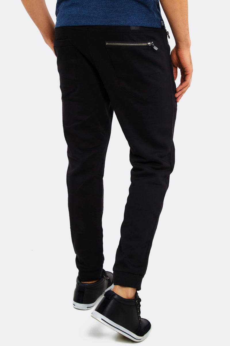 Black Trousers With Elastic Waist