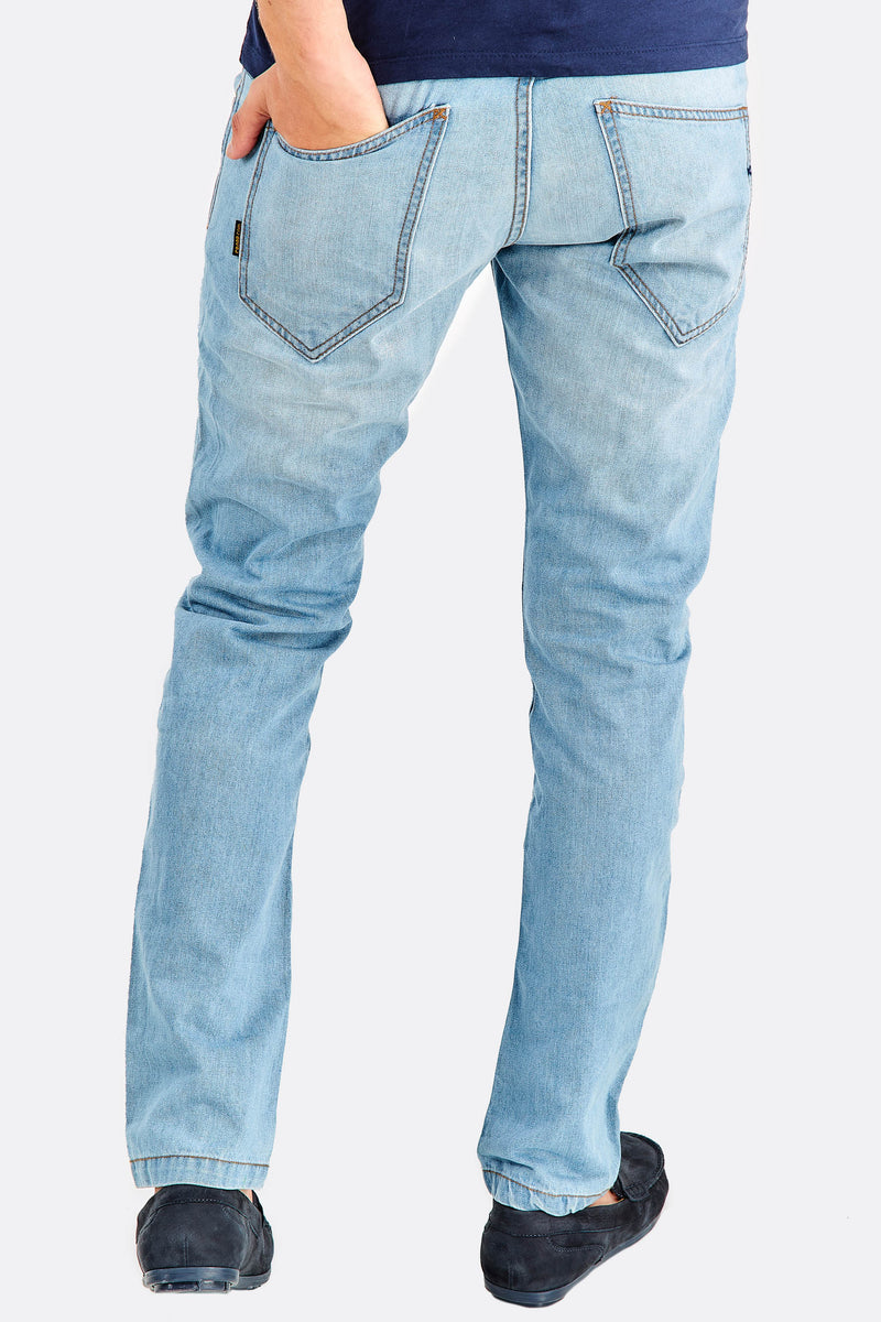 Light Blue Jeans With Faded Aspect