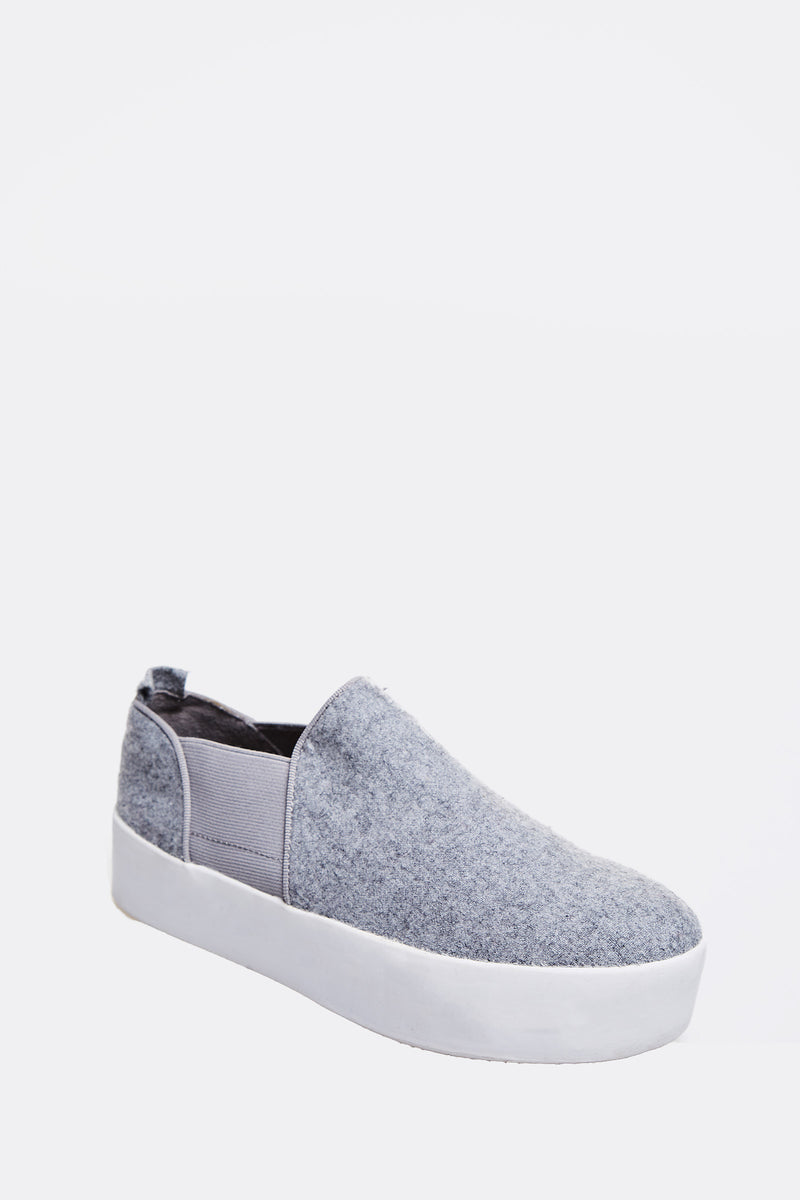 Grey Slip On Shoes