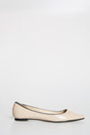 Cream Pointed Toe Flats