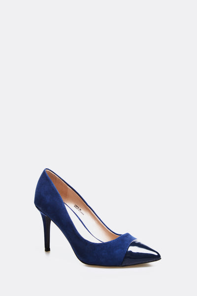 Navy High Heel Shoes