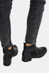 Black Ankle Boots With Side Zippers