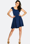 Blue T-Shirt Skater Dress