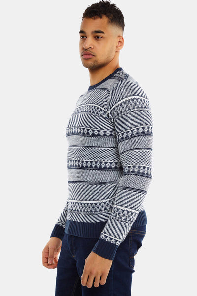 Navy Wool Blend Jumper