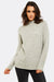 Light Grey Jumper With High Neck