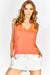 Orange V Neck Sports Top
