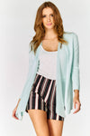 Blue Open Front Jacket