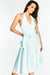 Blue Halterneck Midi Dress