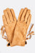 Camel Suede Tie Side Gloves