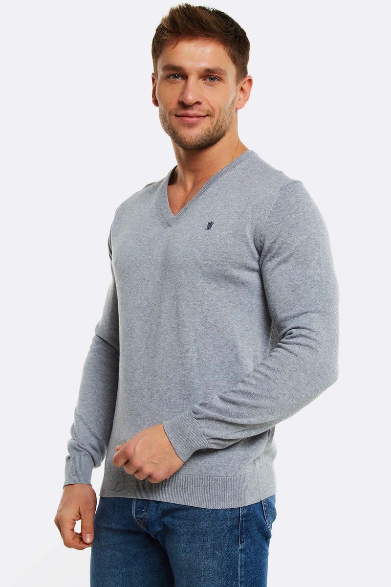 Light Grey Cotton Jumper