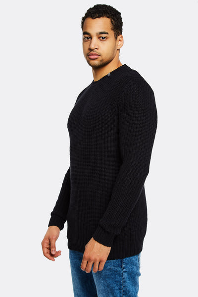 Black Jumper With Round Neck