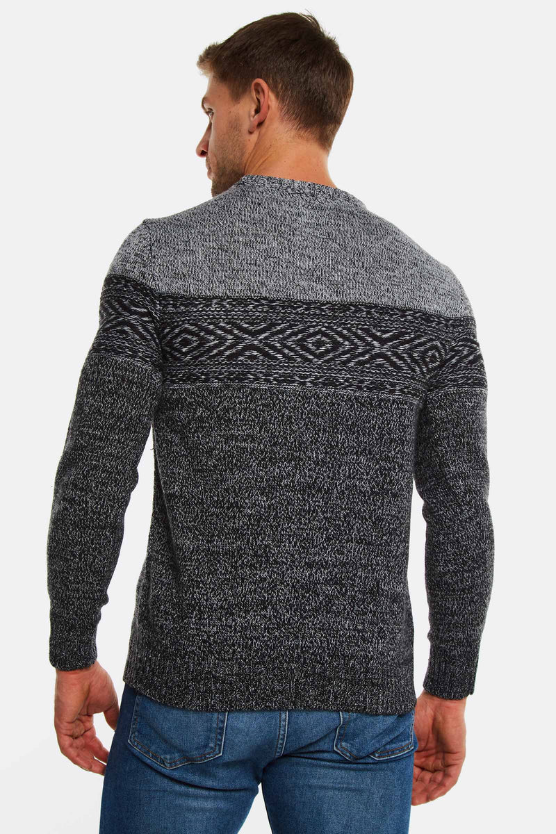 Black Wool Blend Jumper