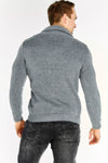 Grey Button Neck Jumper