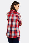 Red Checkered Cotton Shirt