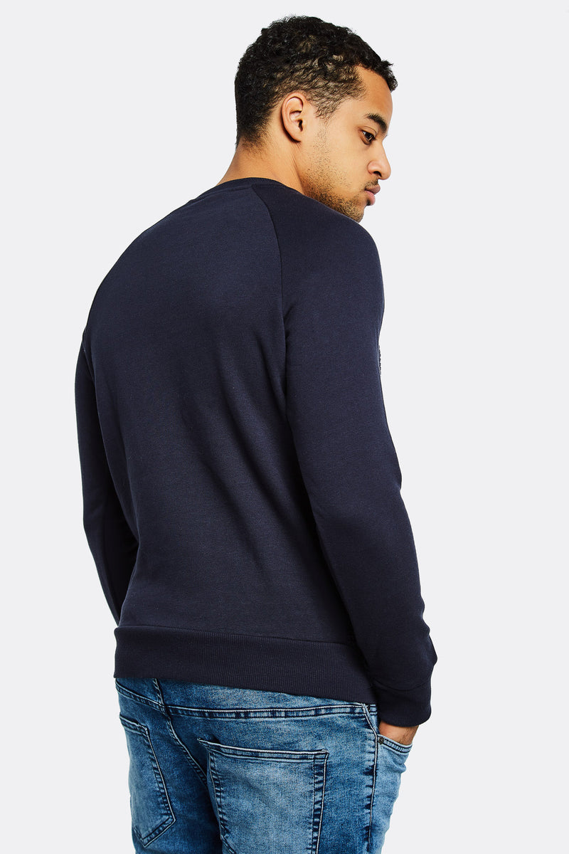 Navy Jumper With Round Neck
