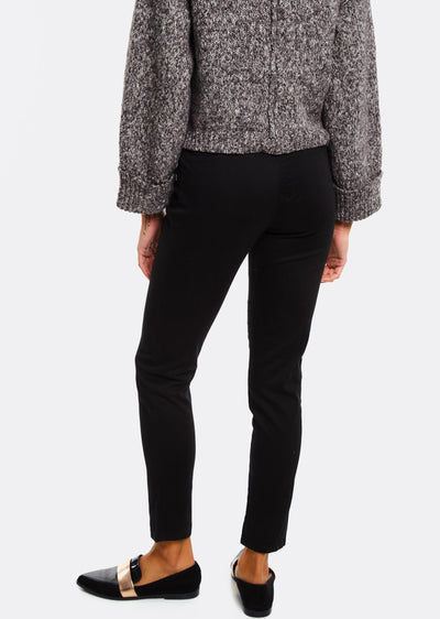 Black Trousers With Front Zipper